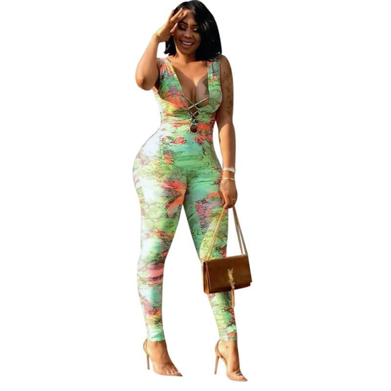 colorfuljumpsuits-green-front view