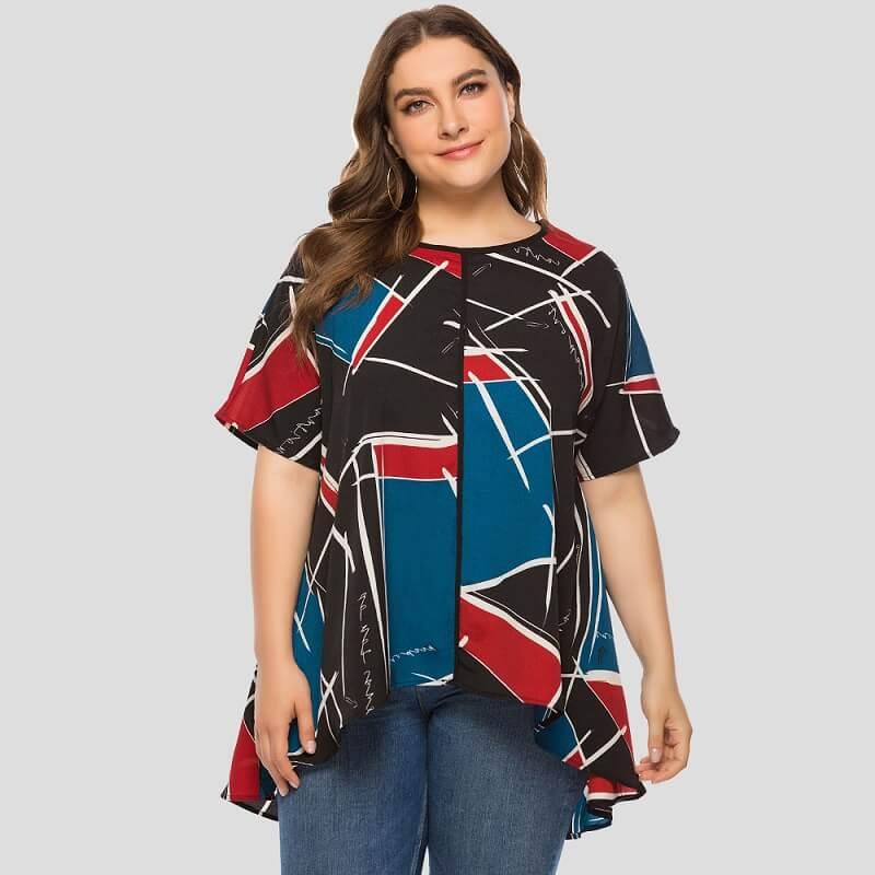 Friends T Shirt Plus Size - red color
