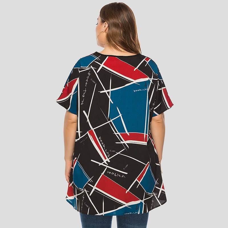 Friends T Shirt Plus Size - red back