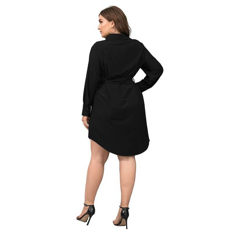 Plus Size Black Blouse - black back