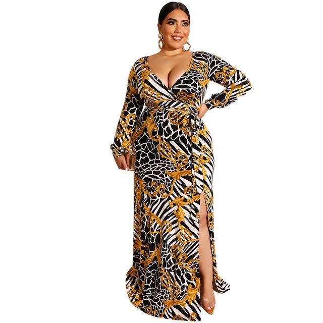 Plus Size Beach Wedding Dresses - gold color