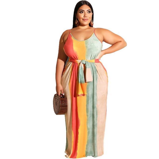 Plus Size Beach Dresses - beige color
