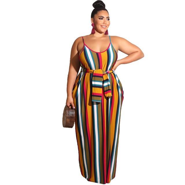Plus Size Beach Dresses - yellow color