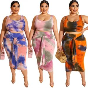 Plus Size Casual Two Piece Sets - main picture