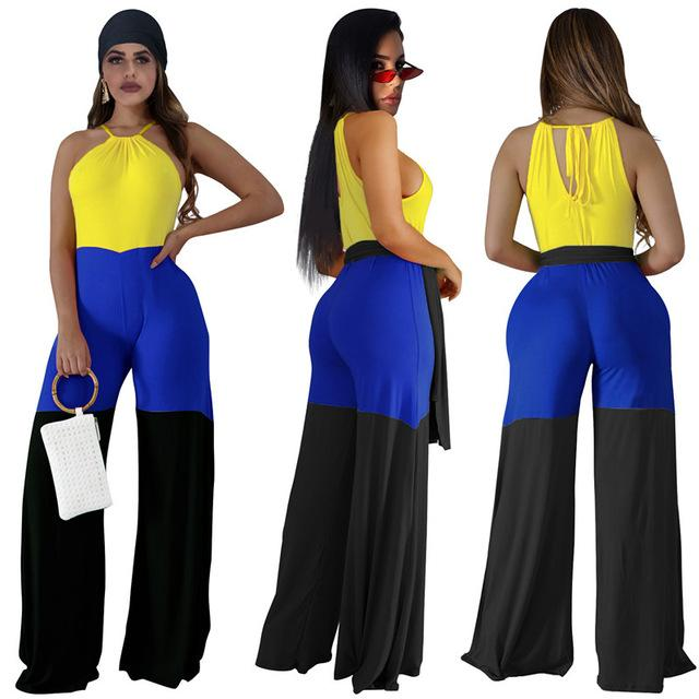 Lounge Jumpsuit Womens - yellow color