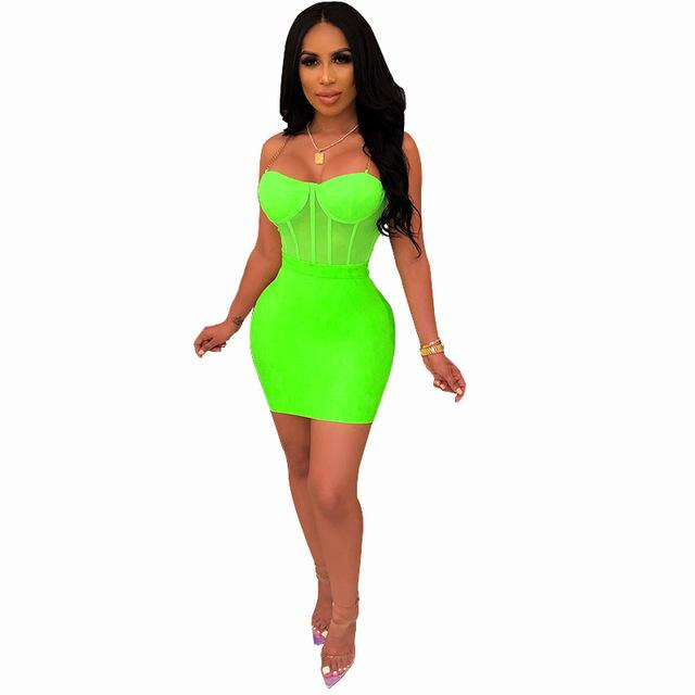 Sexy Green Dresses - green color