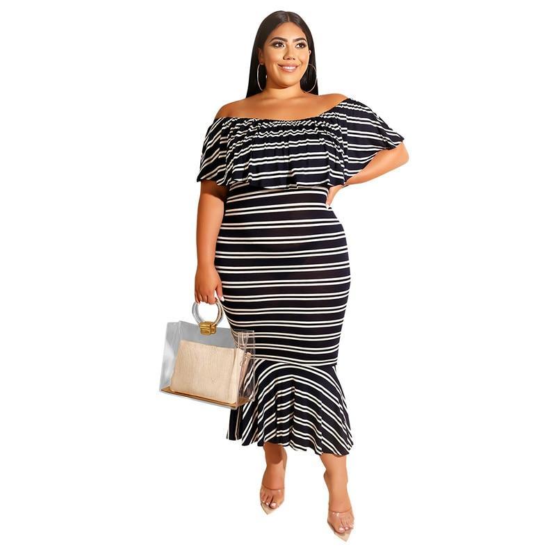 Plus Size Western Dresses - black positive