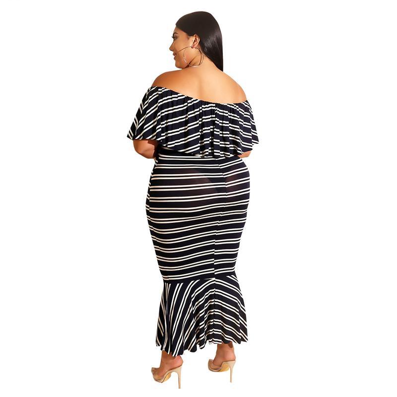 Plus Size Western Dresses - black back
