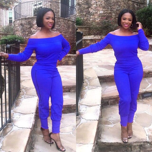 Two Piece Outfits - blue Color