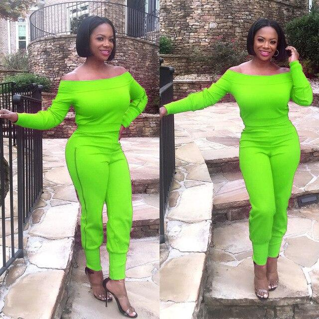 Two Piece Outfits - Green Color
