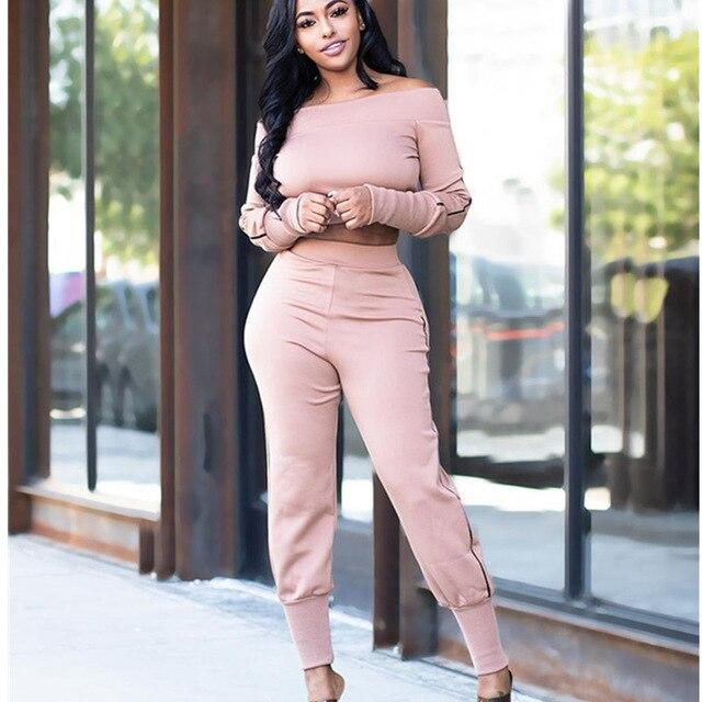 Two Piece Outfits - Pink Color