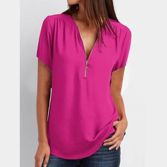 Plus Size Grey T Shirt - purple color