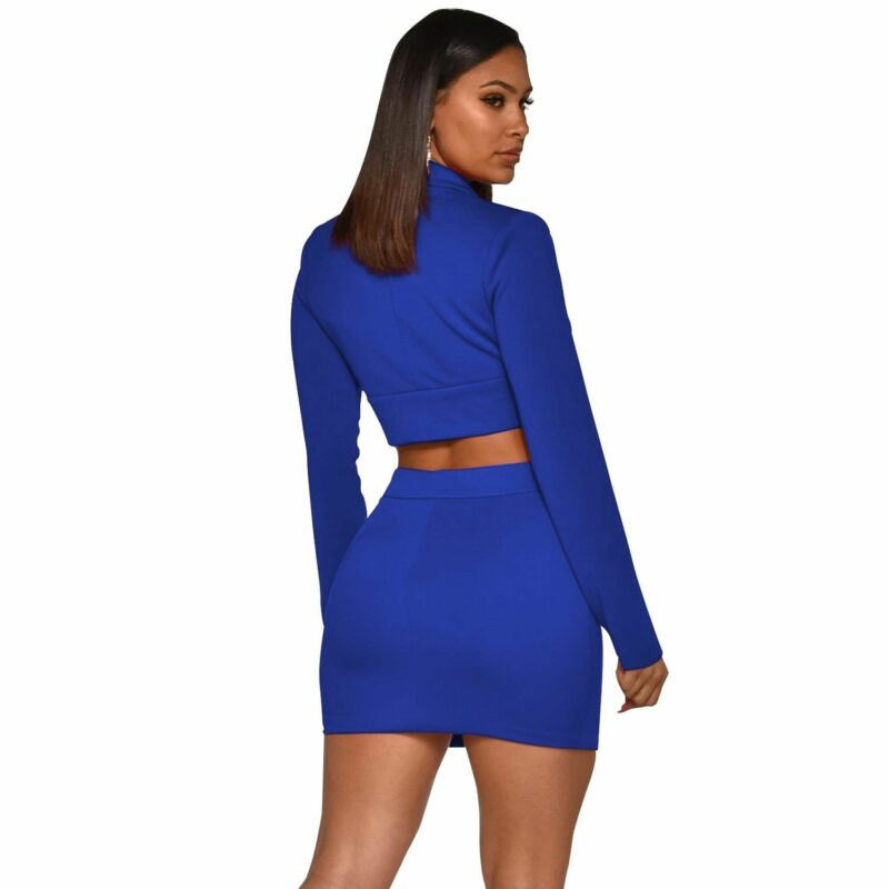 Sexy Two Piece Sets - blue color