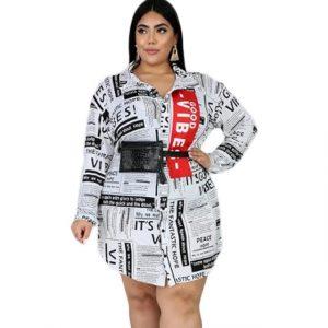 plus size casual dresses - white color