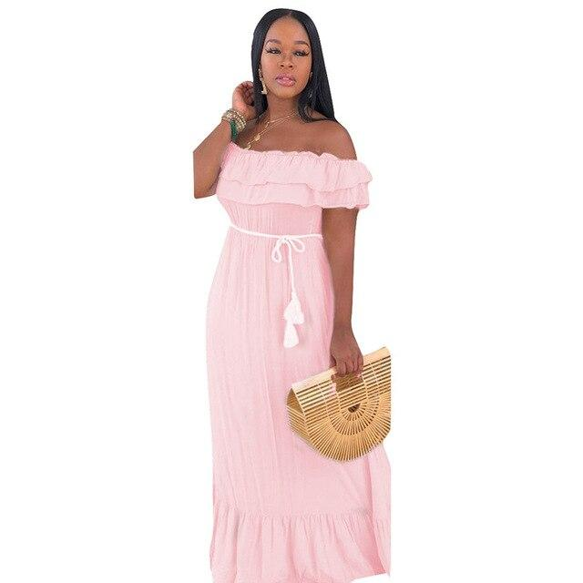 ruffle dress - Pink Color