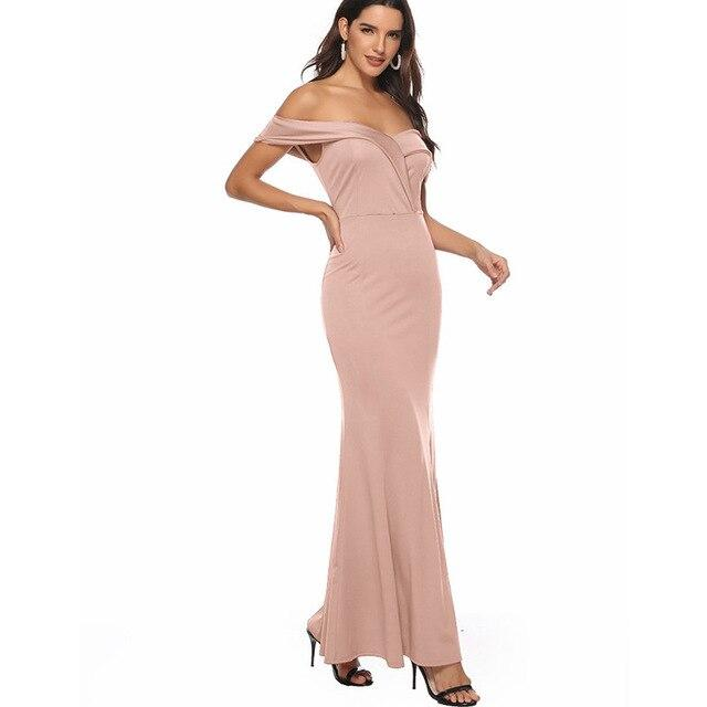 Red Party Dress - pink color