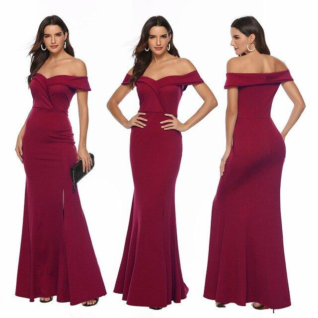 Red Party Dress - red color