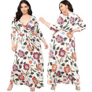 Lavender Plus Size Dress - beige main picture
