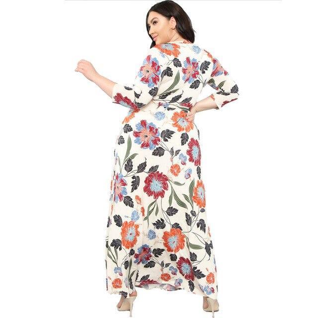 Lavender Plus Size Dress - beigre side