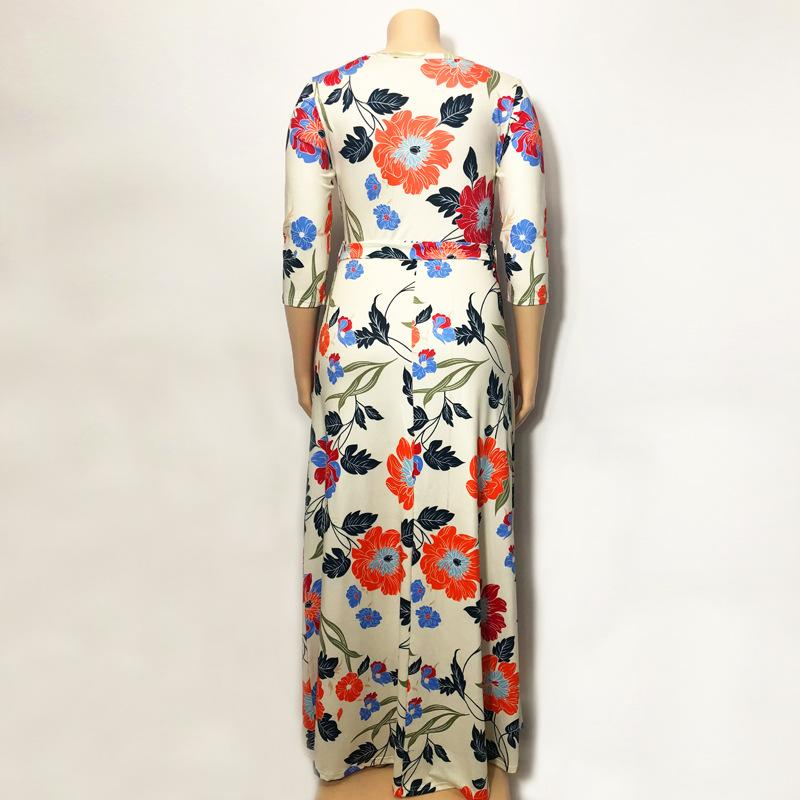 Lavender Plus Size Dress - beigre back