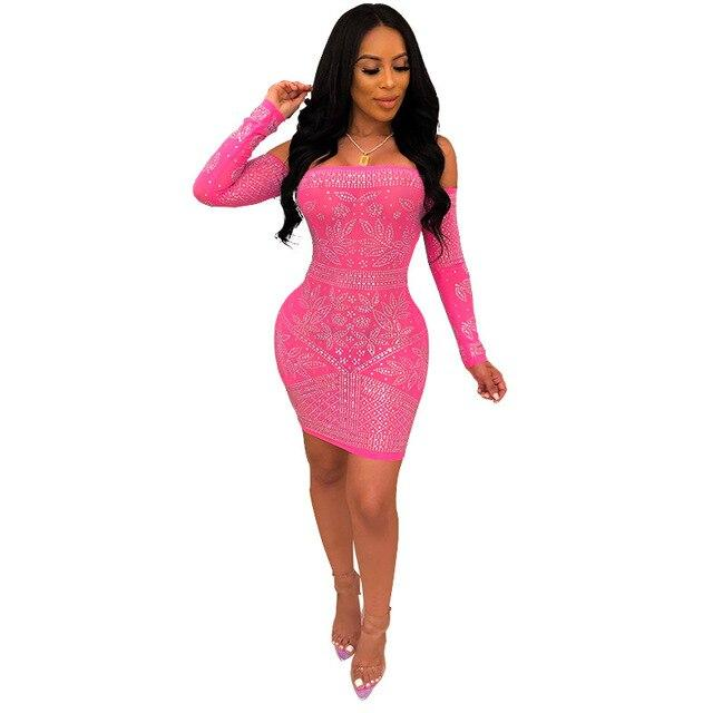 Sexy Tight Dress - pink color
