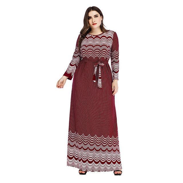 Plus Size Sheath Dress - burgundy positive
