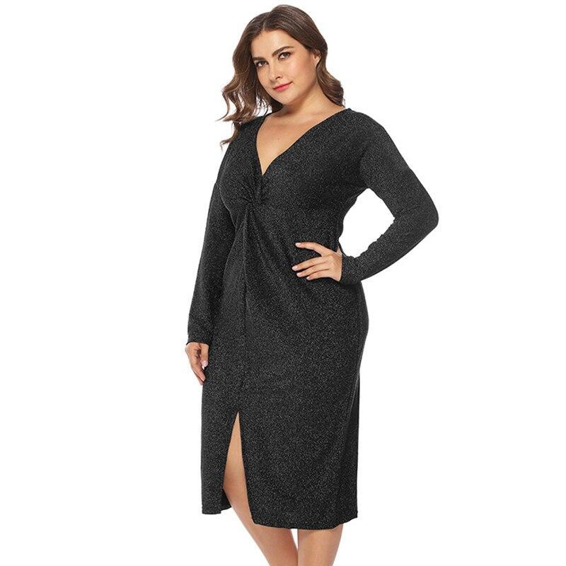 Unique Plus Size Prom Dresses - black whole body