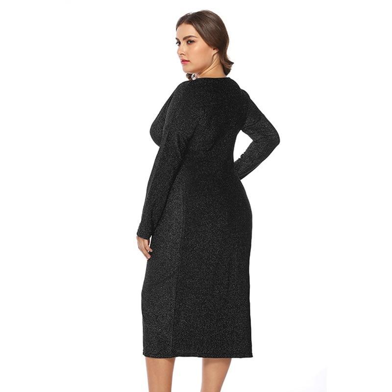 Unique Plus Size Prom Dresses - black side