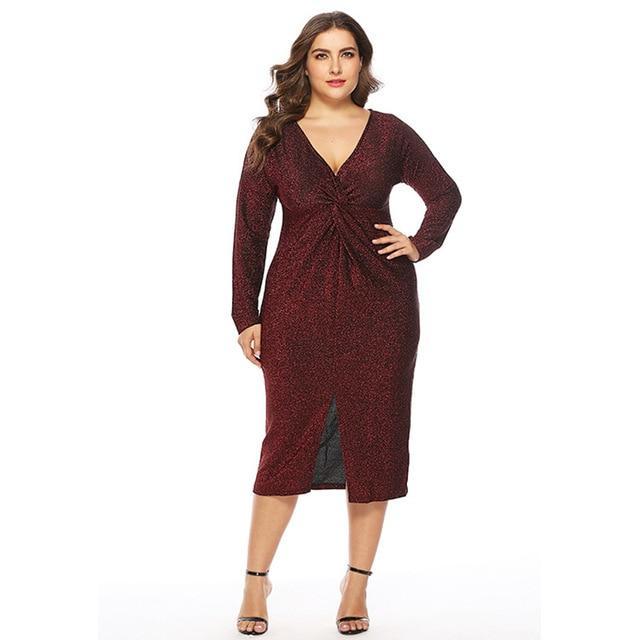 Unique Plus Size Prom Dresses - red positive