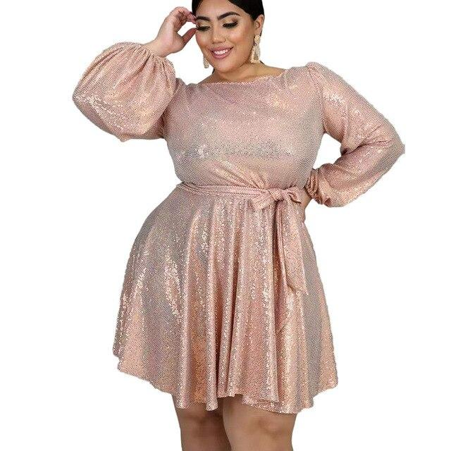 Plus Size Special Occasion Dresses - pink main picture