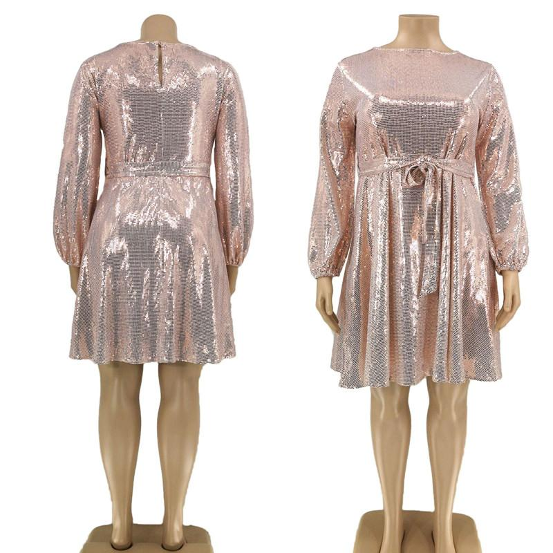 Plus Size Special Occasion Dresses - pink whole  body