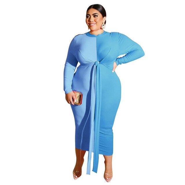 Plus Size Wedding Guest Dresses - sky blue color