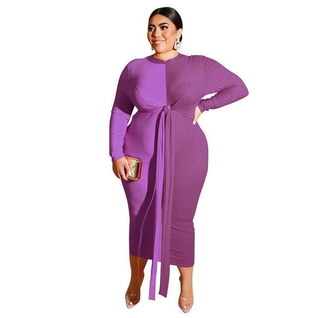 Plus Size Wedding Guest Dresses - purple color