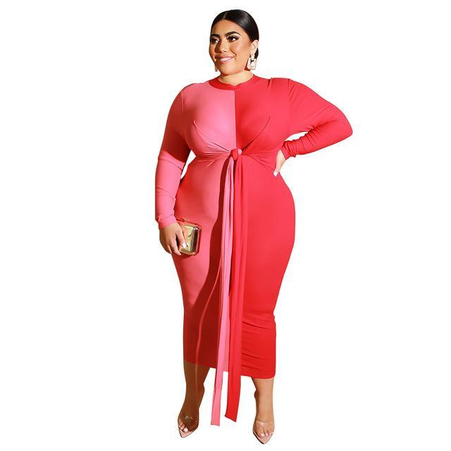 Color Plus Size Wedding Guest Dresses -  red color