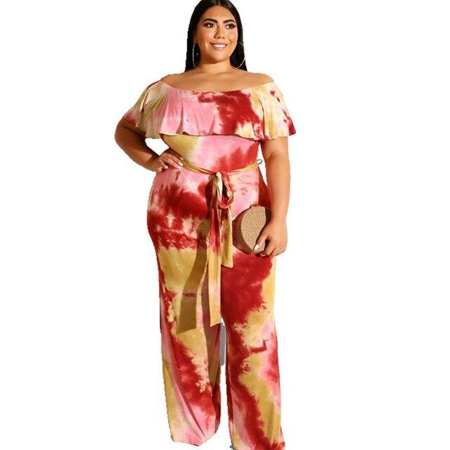 Plus Size Yellow Jumpsuit -  yellow color