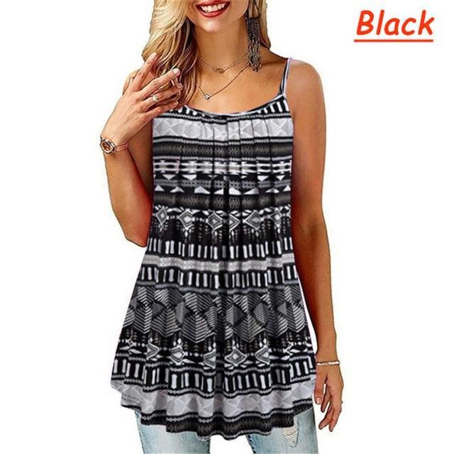 Plus Size Black And White Striped Shirt - black color