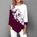1183 Floral Wine Red