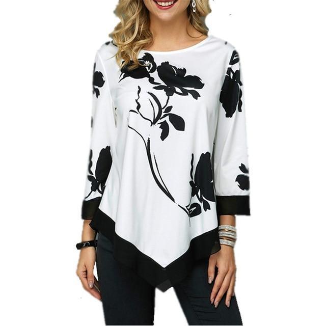 Plus Size Oversized T Shirt - white color