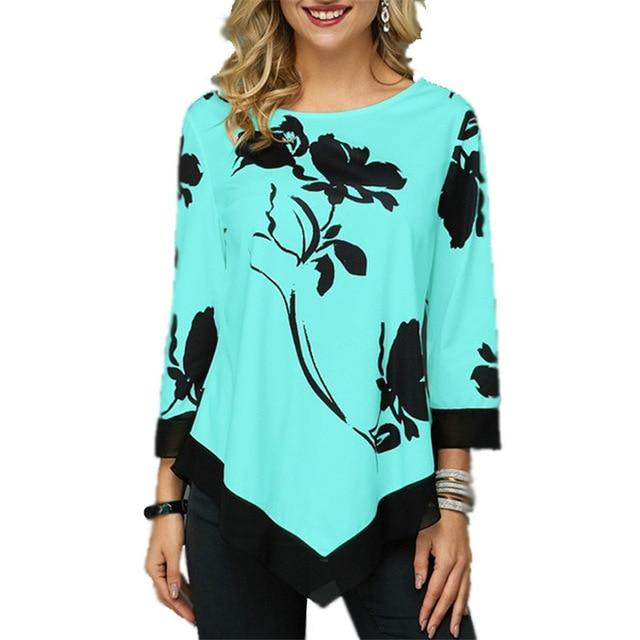 Plus Size Oversized T Shirt - green color