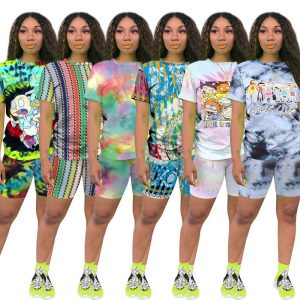 Plus Size Casual Fashion Printing Set - main picture
