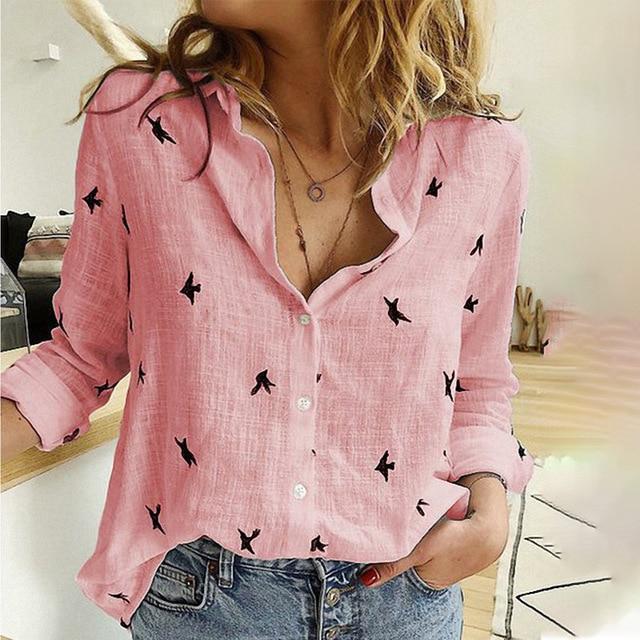 White Wrap Blouse Plus Size - pink color