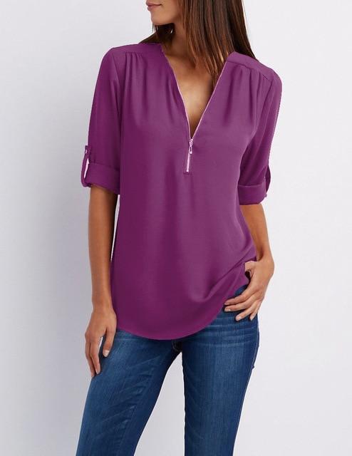 Royal Blue Plus Size T Shirt - purple color