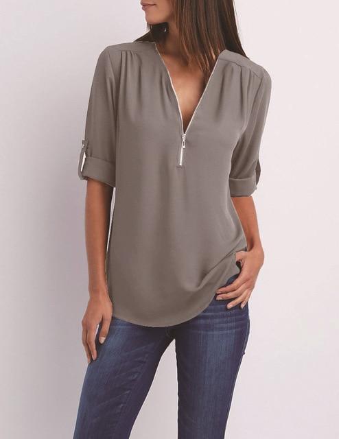 Royal Blue Plus Size T Shirt - gray color