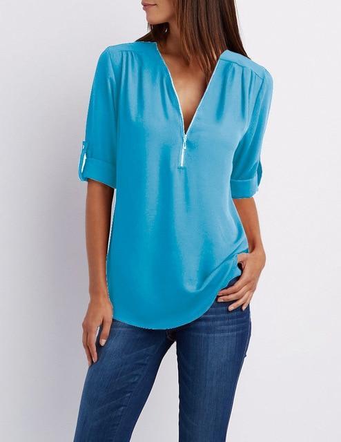 Royal Blue Plus Size T Shirt - sky blue color