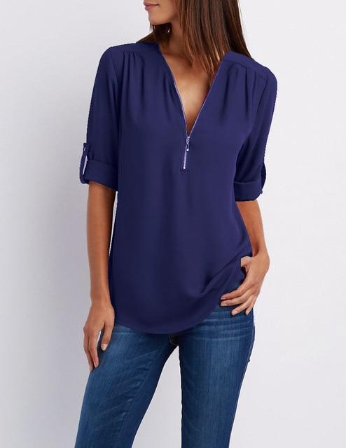 Royal Blue Plus Size T Shirt - navy color