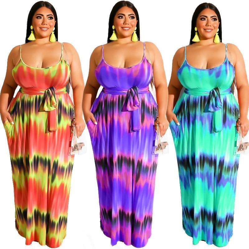 Plus Size Boho Dresses - three colors