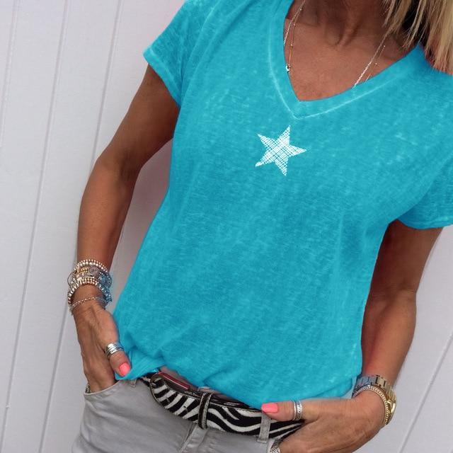 Plus Size Hot Pink t Shirt - blue color