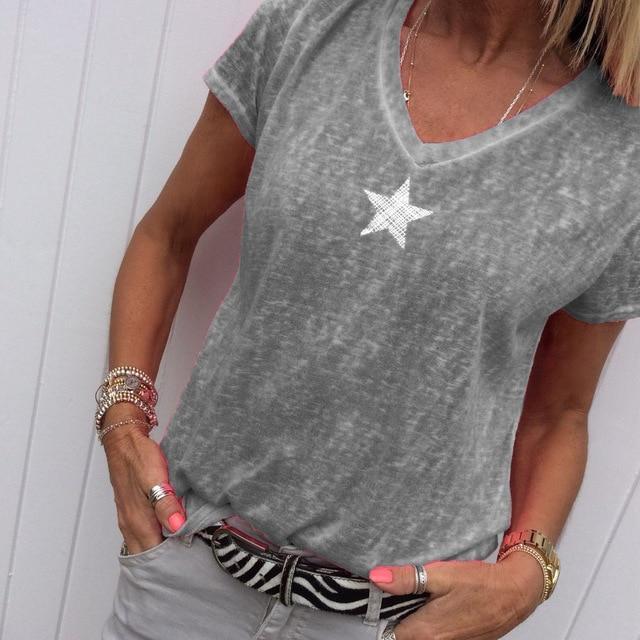 Plus Size Hot Pink t Shirt - gray  color