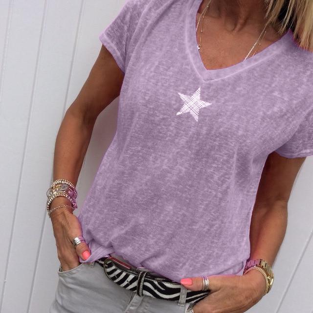 Plus Size Hot Pink t Shirt - purple color