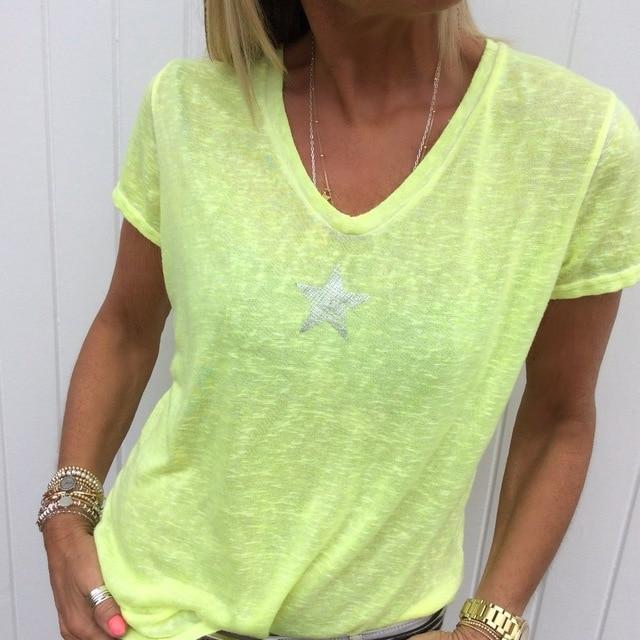 Plus Size Hot Pink t Shirt - green color